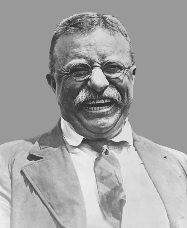 Teddy Roosevelt Poster featuring the painting President Teddy Roosevelt by War Is Hell Store