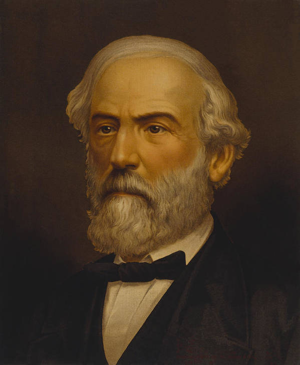 Robert E Lee Poster featuring the painting Robert E Lee by War Is Hell Store
