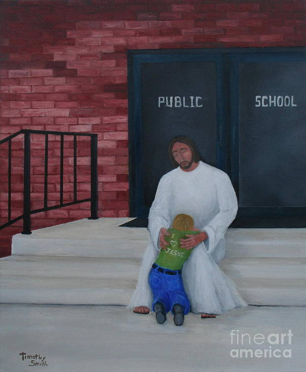 Religion Poster featuring the painting They Won't Let Me In Either. by Timothy Smith