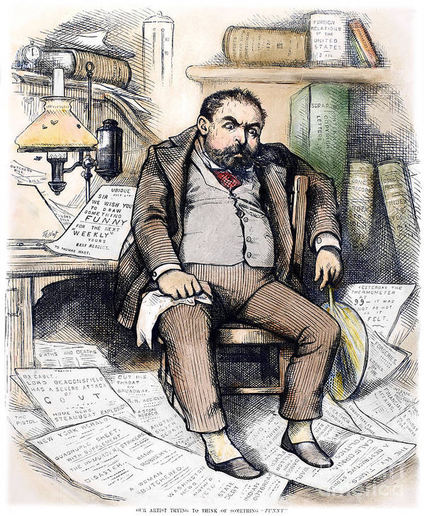 1879 Poster featuring the photograph Thomas Nast (1840-1902) by Granger