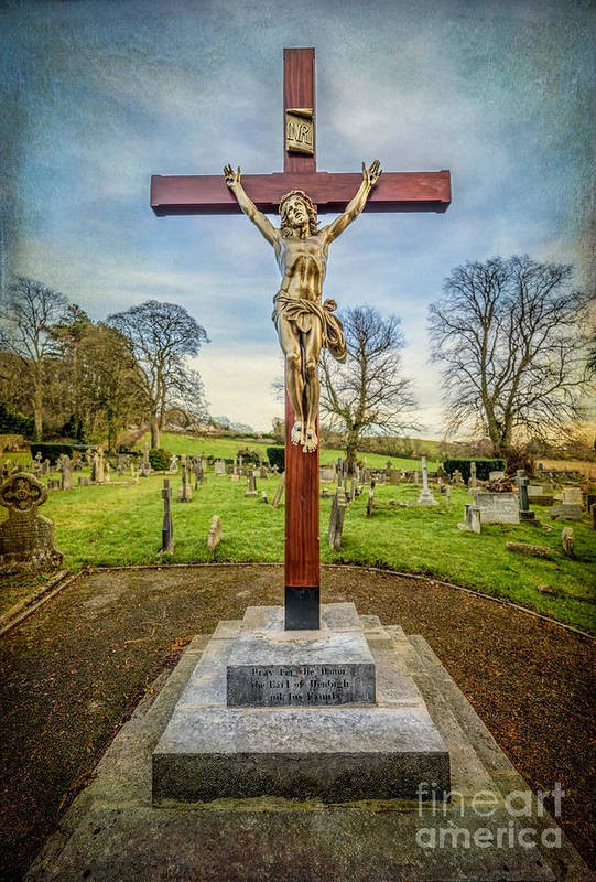 British Poster featuring the photograph The Cross by Adrian Evans