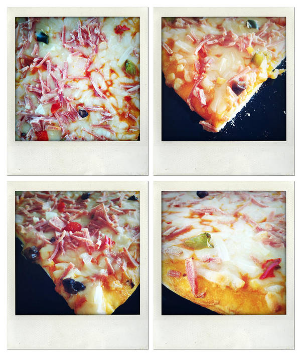 Snack Poster featuring the photograph Pizza by Les Cunliffe