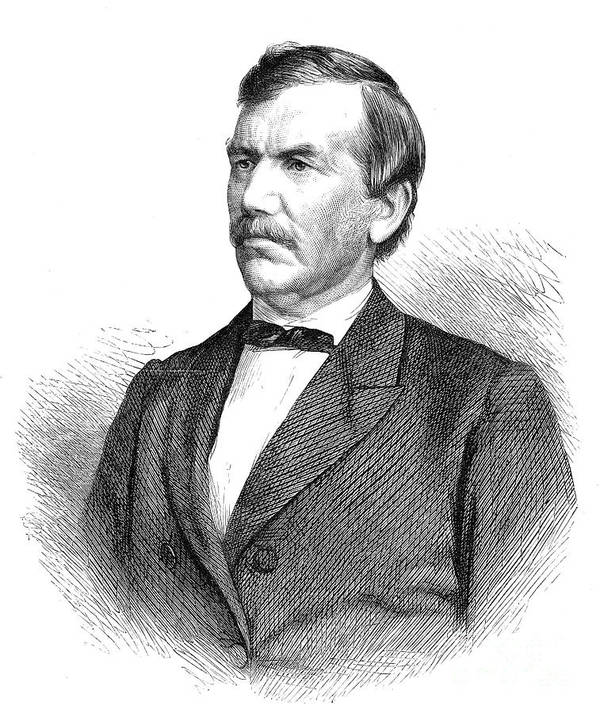 1872 Poster featuring the photograph David Livingstone by Granger