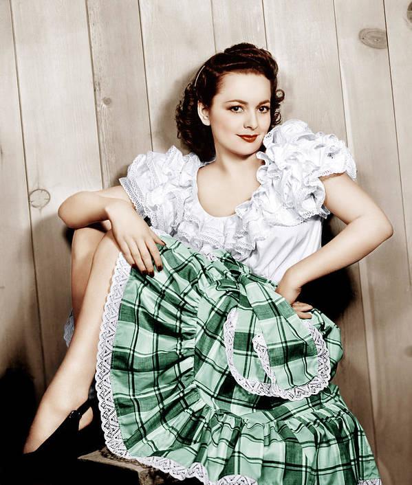 1940s Portraits Poster featuring the photograph Olivia De Havilland, Ca. 1948 by Everett