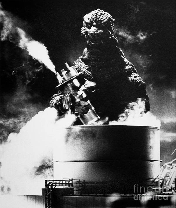 20th Century Poster featuring the photograph Godzilla by Granger