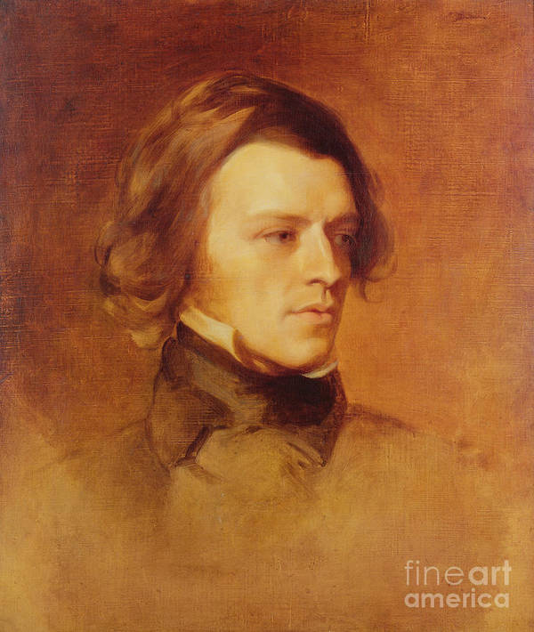 Portrait Poster featuring the painting Portrait Of Alfred Lord Tennyson by Samuel Laurence