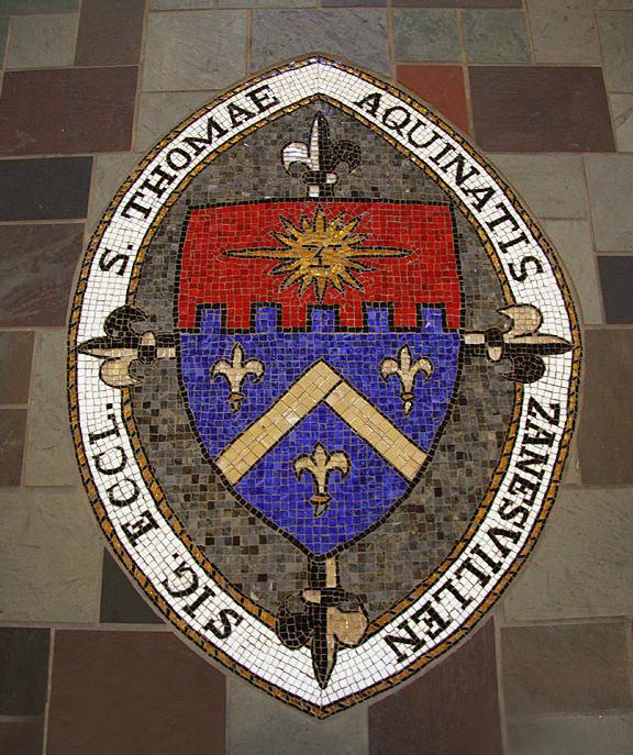 Mosaic Poster featuring the glass art St Thomas by Laura K Aiken