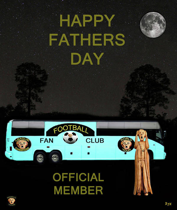 Scream World Tour Poster featuring the mixed media The Scream World Tour Football Tour Bus Fathers Day by Eric Kempson