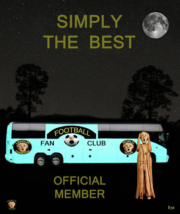 Scream World Tour Poster featuring the mixed media The Scream World Tour Football Tour Bus Simply The Best by Eric Kempson