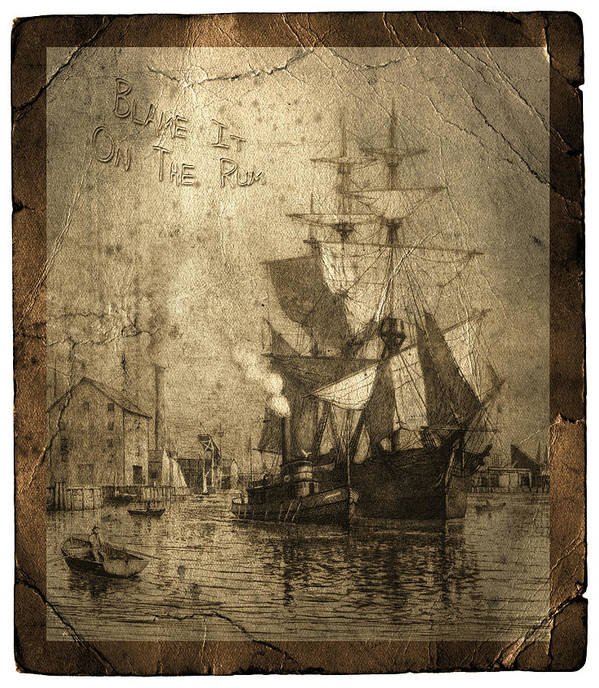 Schooner Poster featuring the photograph Blame It On The Rum Schooner by John Stephens