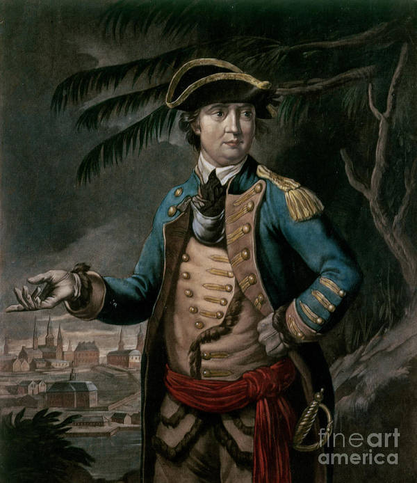 Col Poster featuring the painting Benedict Arnold by English School