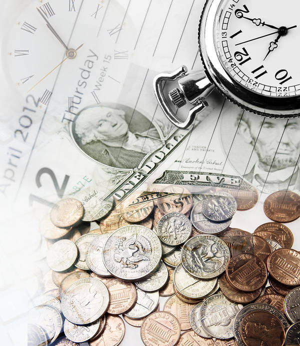 Banking Poster featuring the photograph Time Is Money Concept by Les Cunliffe