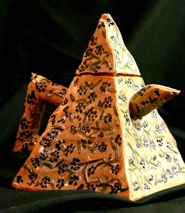 Ceramics Poster featuring the ceramic art Teapot by Ghazel Rashid