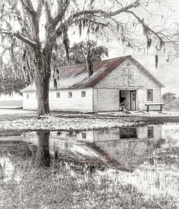 Landscape Poster featuring the photograph Barn Reflection by Scott Hansen