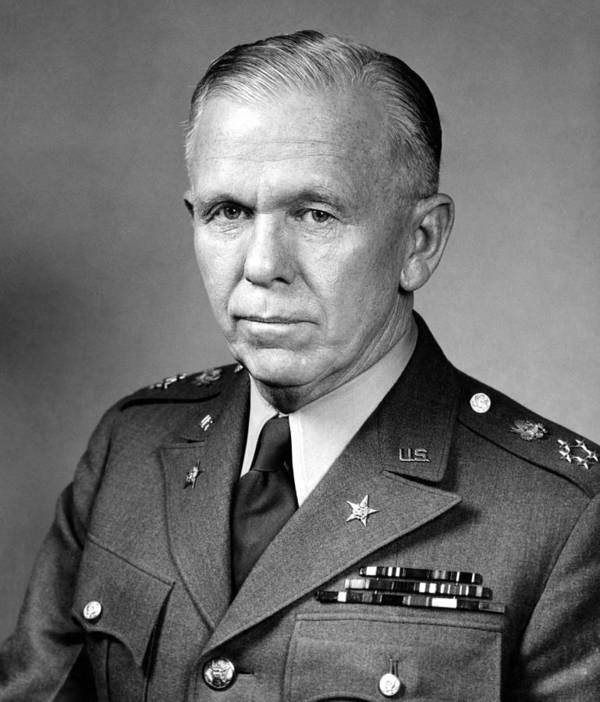 George Marshall Poster featuring the photograph General George Marshall by War Is Hell Store