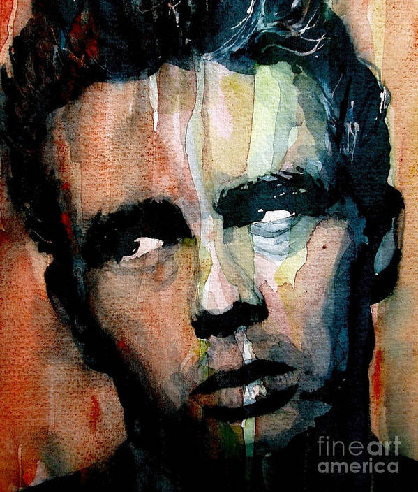 James Dean Poster featuring the painting James Dean by Paul Lovering