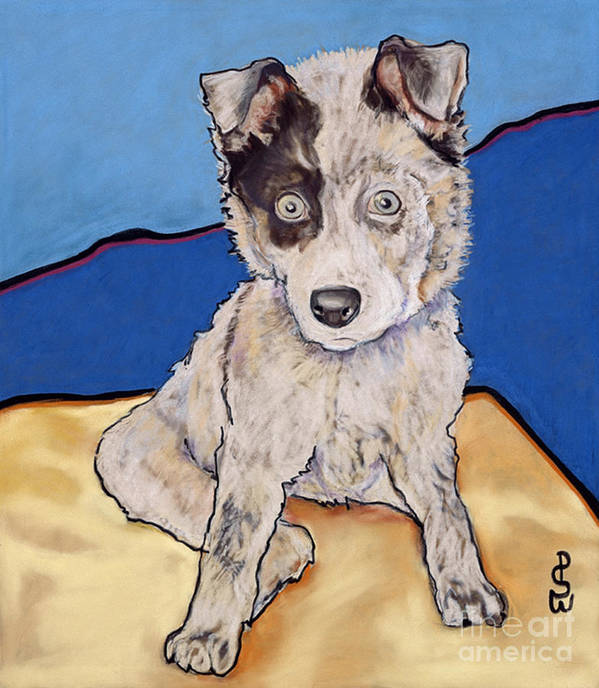 Merle Aussie Poster featuring the painting Reba Rae by Pat Saunders-White