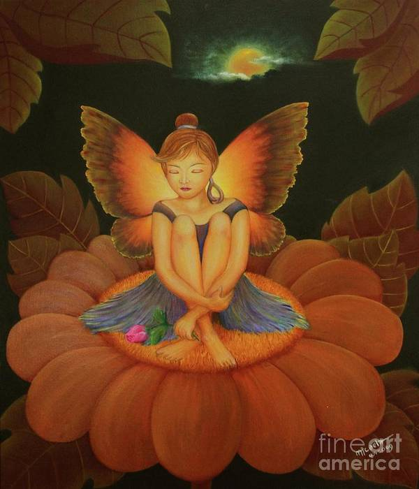Angel Poster featuring the painting Sweet Dream by Desiree Micaela