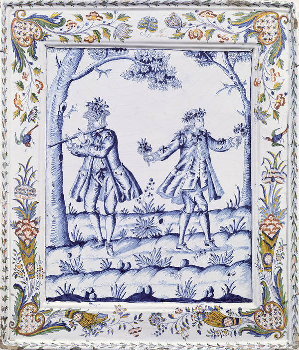 Plaque Poster featuring the painting The Magic Flute by French School