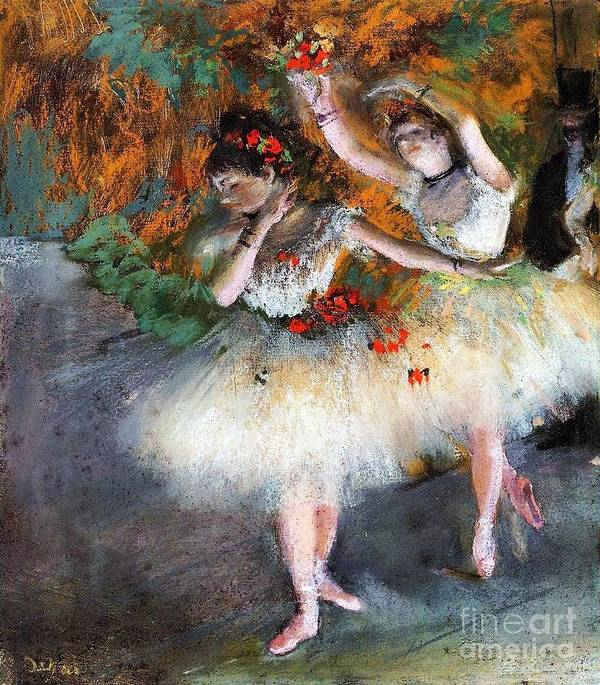 U.s.pd Poster featuring the painting Two Dancers Entering The Scene by Pg Reproductions