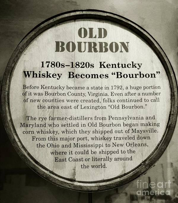 Bourbon Poster featuring the photograph Old Bourbon by Mel Steinhauer