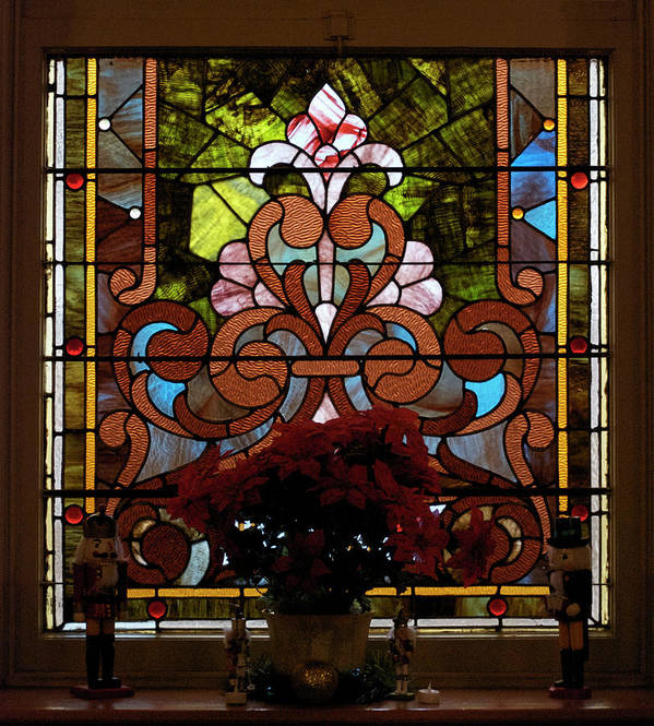 Glass Art Poster featuring the photograph Stained Glass Lc 17 by Thomas Woolworth