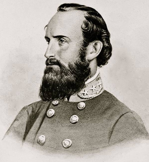 Stonewall; Jackson; General; Confederate; Cavalry; Civil; War; South; Military; 1863 Poster featuring the photograph Stonewall Jackson Confederate General Portrait by Anonymous