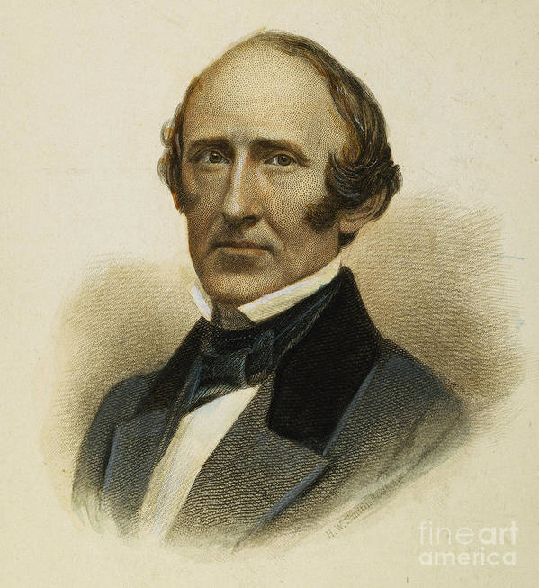 19th Century Poster featuring the photograph Wendell Phillips (1811-1884) by Granger