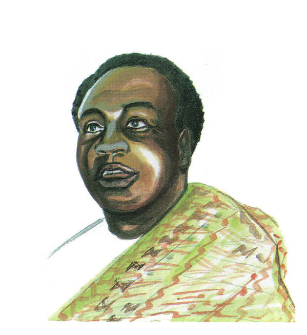 Portraits Poster featuring the painting Kwame Nkrumah by Emmanuel Baliyanga
