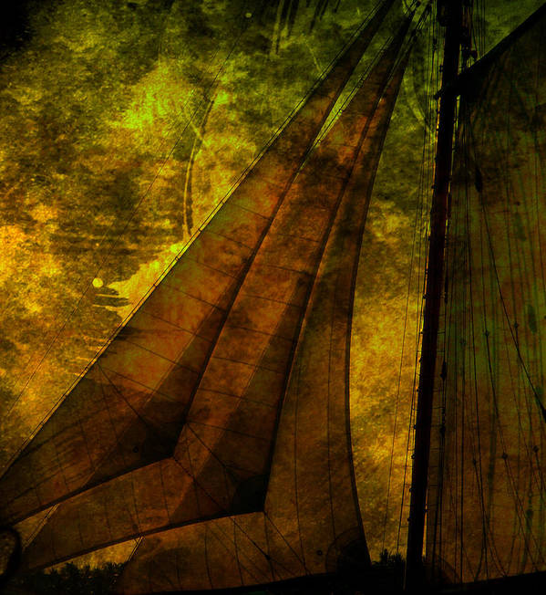 Sail Poster featuring the photograph Night Sailing by Susanne Van Hulst
