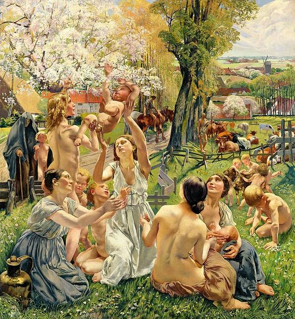 The Poster featuring the painting The Morning by Leon Henri Marie Frederic