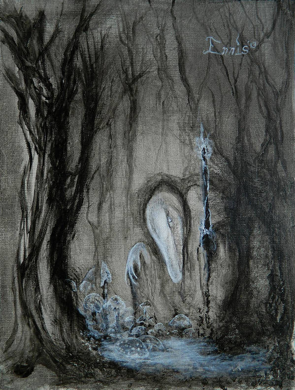Ennis Poster featuring the painting Swamp Shaman by Christophe Ennis