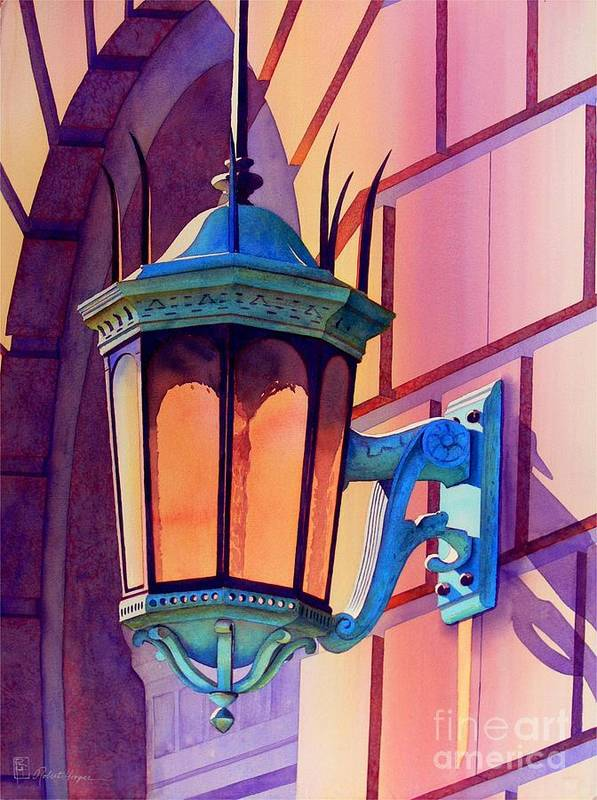 Watercolor Poster featuring the painting The Lamp On Goodwin by Robert Hooper