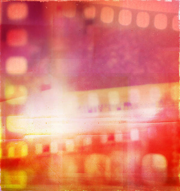 Abstract Poster featuring the photograph Film Negatives by Les Cunliffe