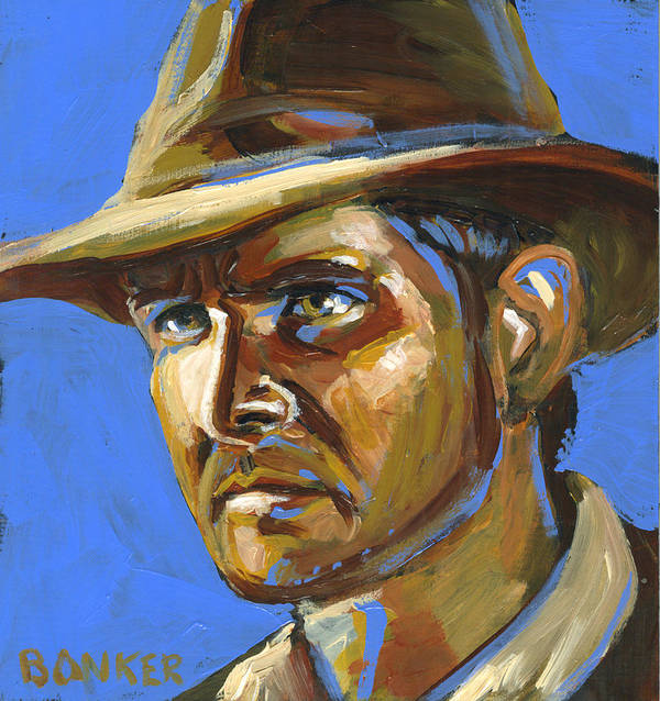 Indy Poster featuring the painting Indiana Jones by Buffalo Bonker