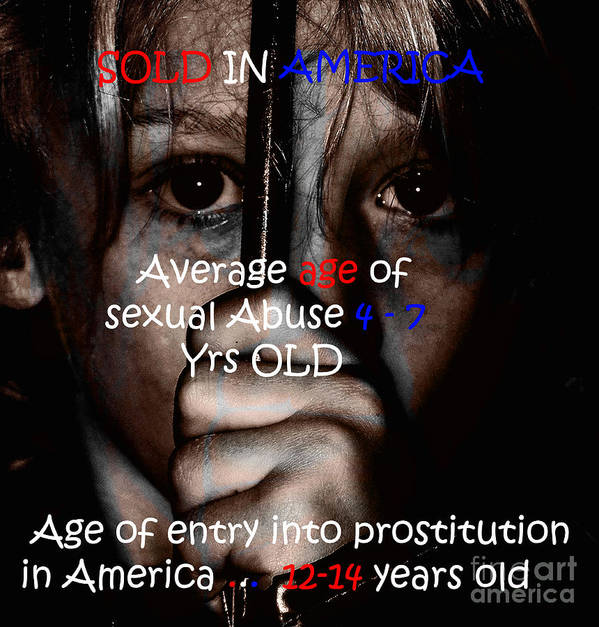 Abuse Poster featuring the painting Sold In America by Tbone Oliver