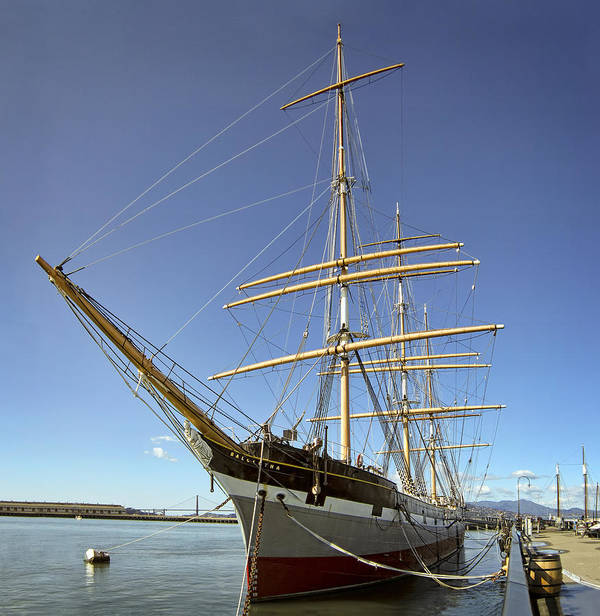 Balclutha Poster featuring the photograph The Balclutha Historic 3 Masted Schooner - San Francisco by Daniel Hagerman