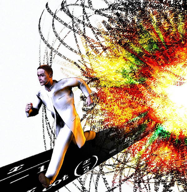 Human Poster featuring the photograph Explosion by Christian Darkin