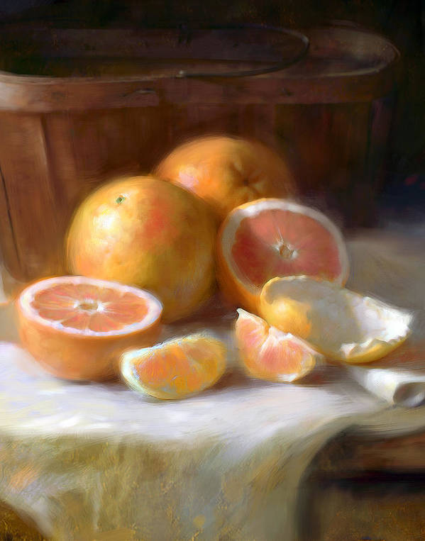 Grapefruit Poster featuring the painting Grapefruit by Robert Papp