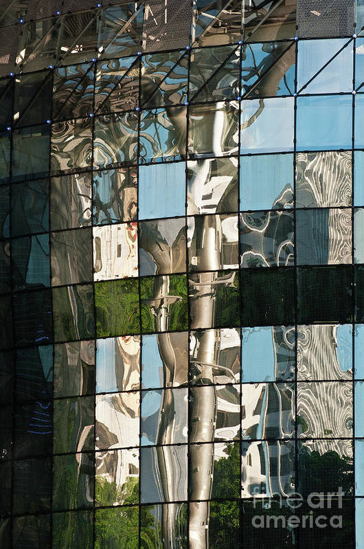 Singapore Poster featuring the photograph Ion Orchard Reflections by Rick Piper Photography
