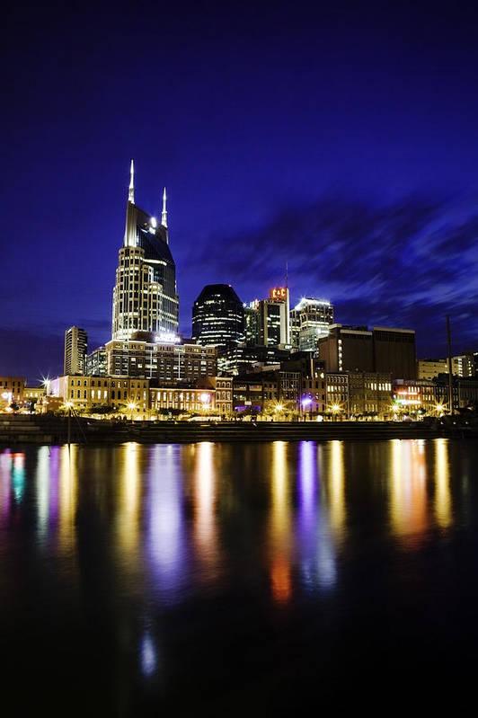 Nashville Poster featuring the photograph Nashville Skyline by Lucas Foley