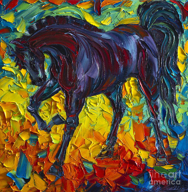 Horse Poster featuring the painting Horse by Willson Lau