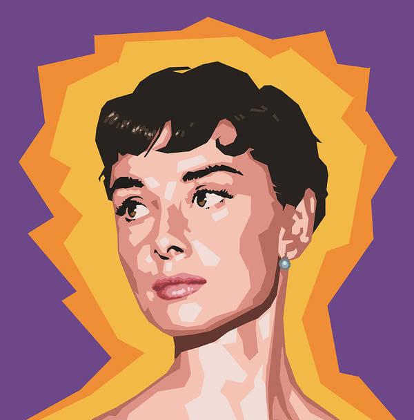Audrey Poster featuring the digital art Audrey by Douglas Simonson