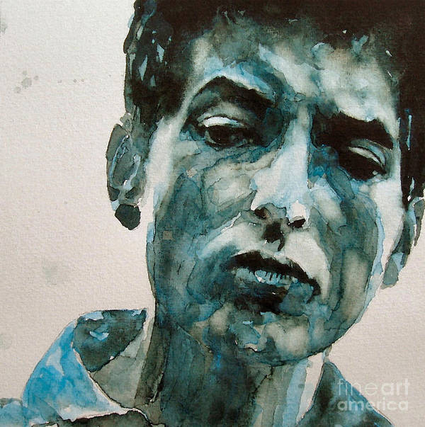 Bob Dylan Poster featuring the painting Bob Dylan by Paul Lovering