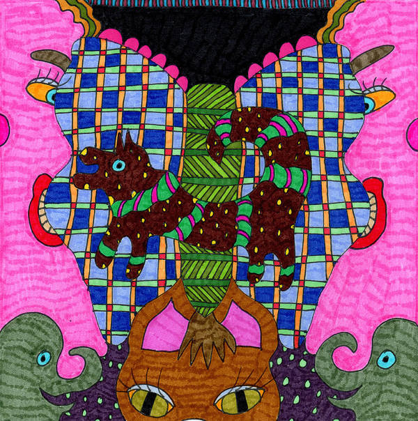Butterfly Poster featuring the tapestry - textile Butterfly 3 by Therese May