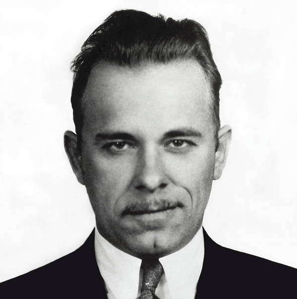 Dillinger Poster featuring the photograph John Dillinger Mugshot by Daniel Hagerman
