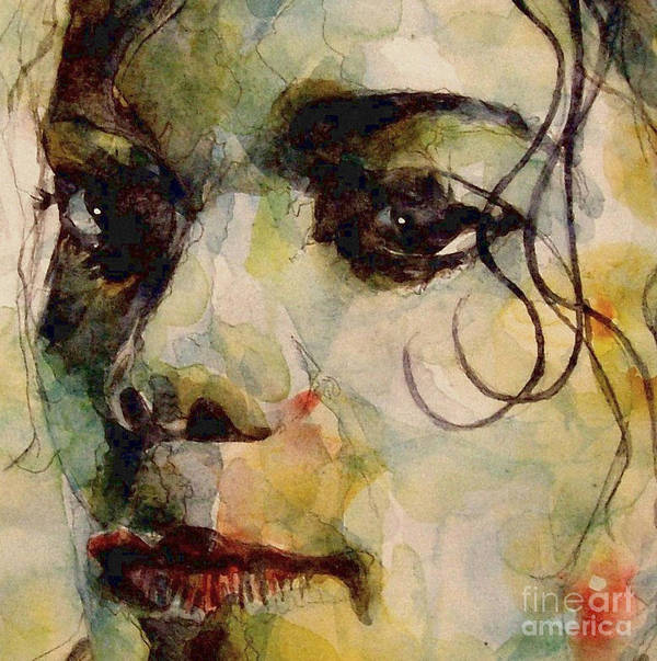 Michael Jackson Poster featuring the painting Man In The Mirror by Paul Lovering