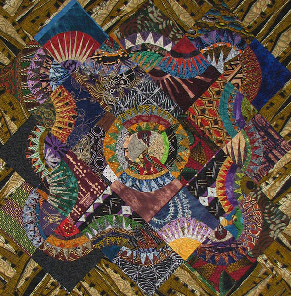 Quilt Poster featuring the tapestry - textile The Stars Come Out by Aisha Lumumba