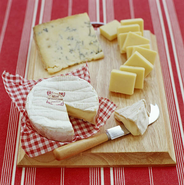 Camembert Poster featuring the photograph Cheese Selection by David Munns