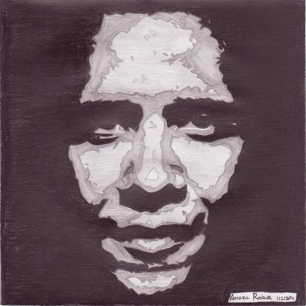 President Barack Obama Poster featuring the drawing Abstract Obama by Angel Roque